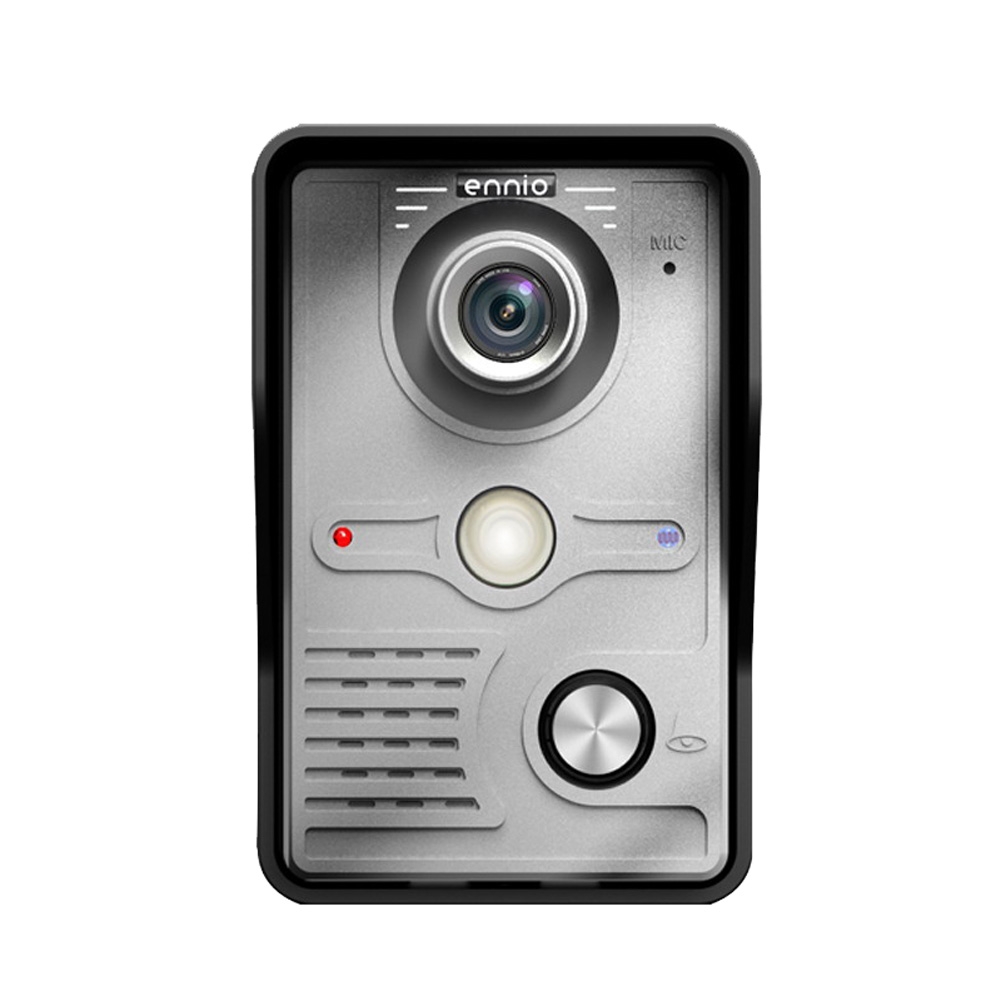 7  Wired Video Door Phone Doorbell Intercom System Kit 1-Camera 1-Monitor IR Camera with Night Vision Wall mounted Easy Operate 4 3 color lcd video door phone wired intercom doorbell ir night vision camera monitor f4398b