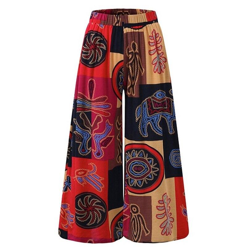 Colorblock Lady Wide Leg Pants Women Summer Beach High Waist Trousers Chic Streetwear Sash Casual Pants Capris Female