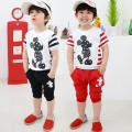Kids Clothes Boys Short Sleeve Tshirt+Pants 2PCS/Set Micky Mouse Cotton Tops Shorts Summer Clothing Set Children Sport Suit