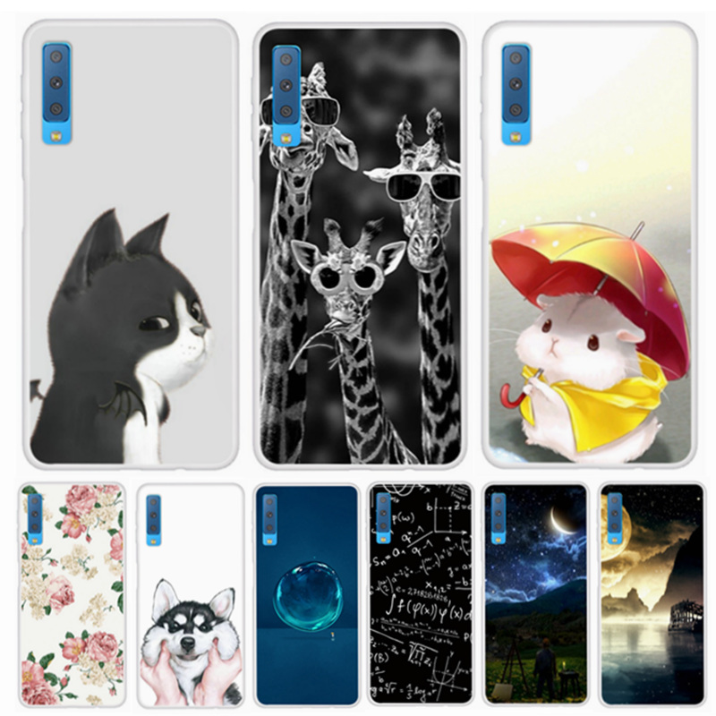 TPU Soft For Samsung Galaxy A7 2018 Cases Cover Silicone Phone For Samsung A7 2018 Cover A750F A750 SM-A750F A 7 <font><b>A72018</b></font> ky103 image