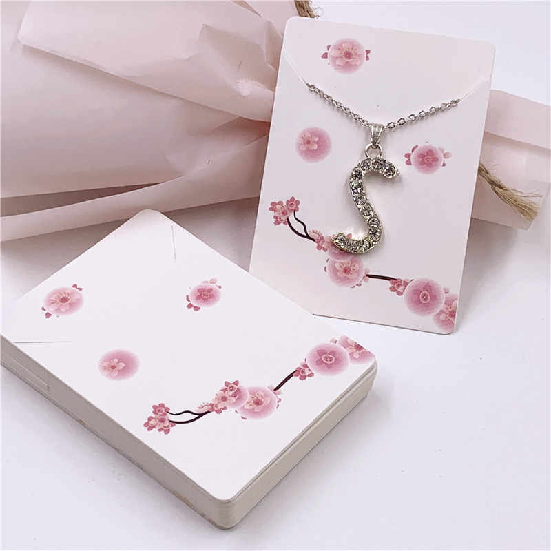 New Hot 24pcs Colorful Flower Necklace Jewelry Packaging Card Chain&Pendant Cards Accessory Displays Packing Tag 7*5cm