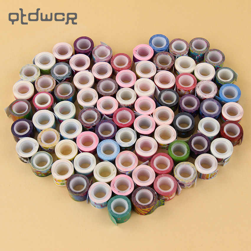 10 Pcs/lot Kawaii Mini Tape DIY Decor Scrapbooking Kartun Stiker Masking Dekorasi Pita Perekat
