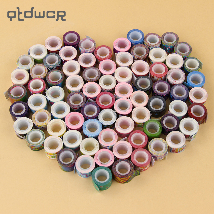 10PCS/Lot Kawaii Mini Tapes DIY Decor Scrapbooking Cartoon Sticker Masking Decoration Adhesive Tape