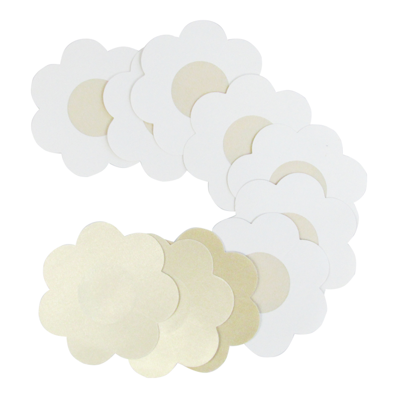Nipple Covers 5 Pairs Nipple Breast Covers Disposable Petal Nipple Pasties for Women Girls Party