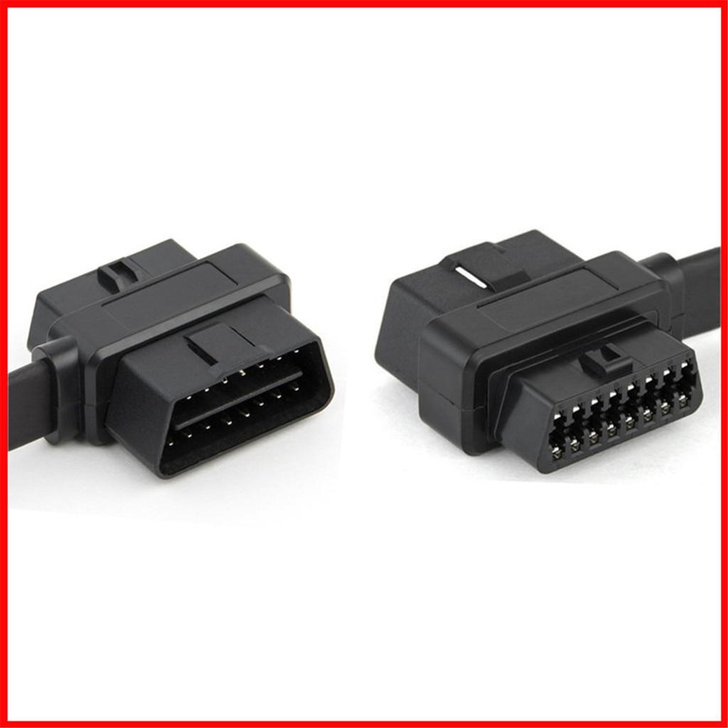 OBD2 Удлинительный кабель 2 в 1 70 см 16Pin Женский на обоих концах для подключения внешних устройств к/Женский переходник с удлинителем 5,23