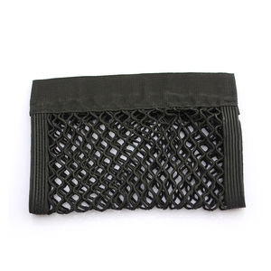 Image 5 - 40*25 ซม.รถกลับด้านหลังที่นั่งกระเป๋าเก็บตาข่ายออแกไนเซอร์Double Deck Elastic Stringสติกเกอร์กระเป๋า