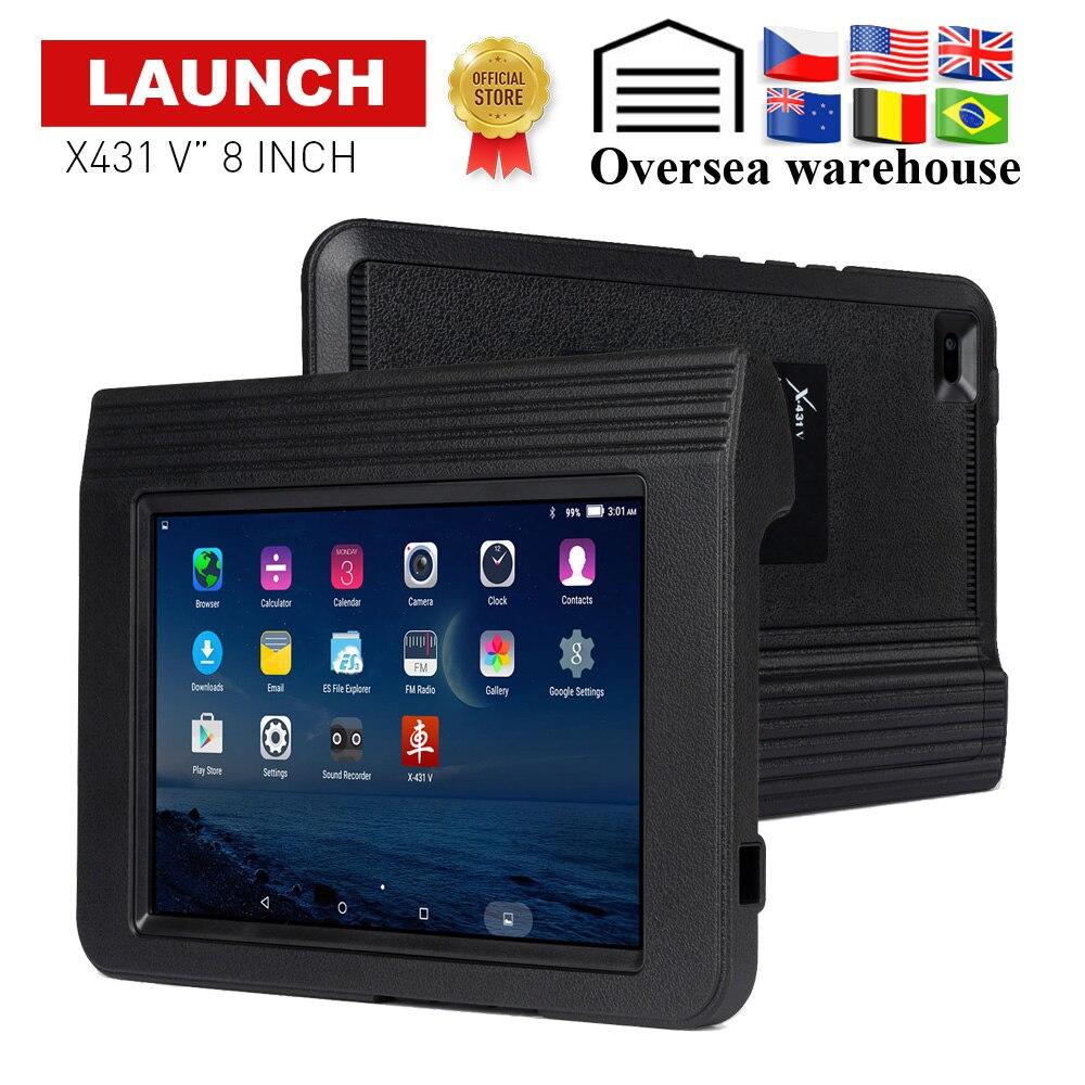 Lanzamiento X431 V 8 Sistema completo herramienta de diagnóstico automático soporte Bluetooth/Wifi 2 años de actualización en línea OBD2 código lector X-431 V escáner