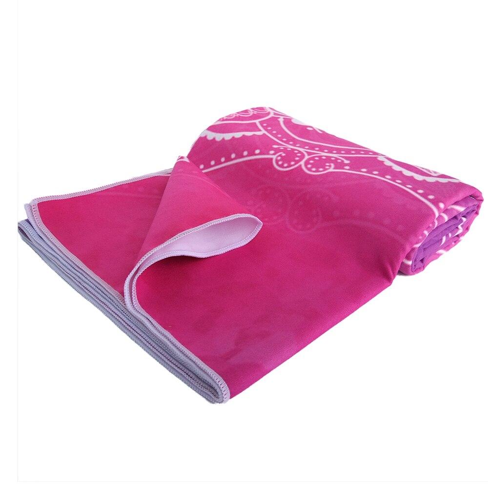 Zipsoft Large Size Microfiber Beach towel Mandala Violet Quick Drying Yoga Mat Sports Swimming Bath Blanket