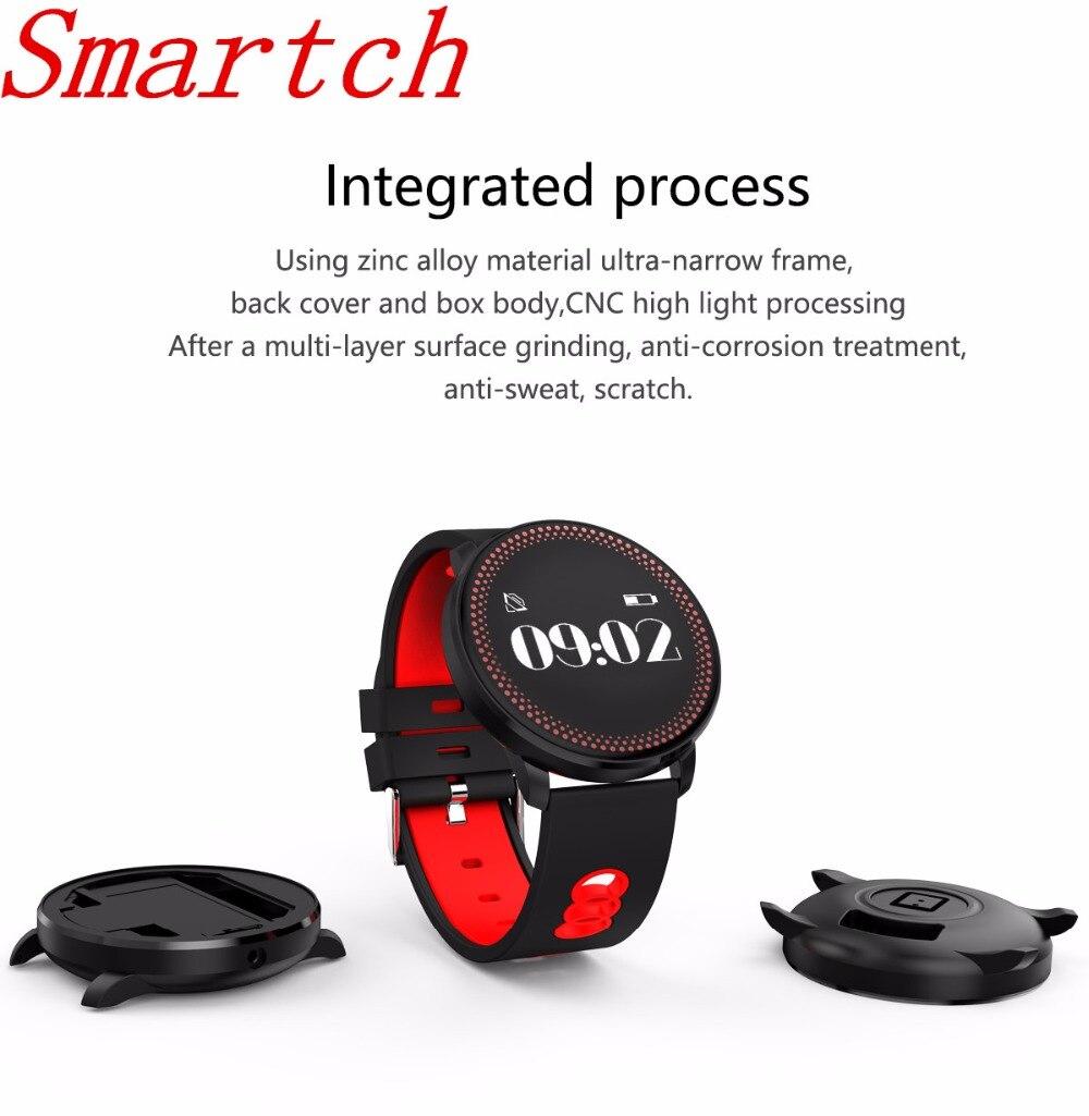 Smartch nuevo smartwatch cf007 arterial oxígeno Monitores reloj inteligente pulsera fitness Tracker para Android y Ios Smartphone