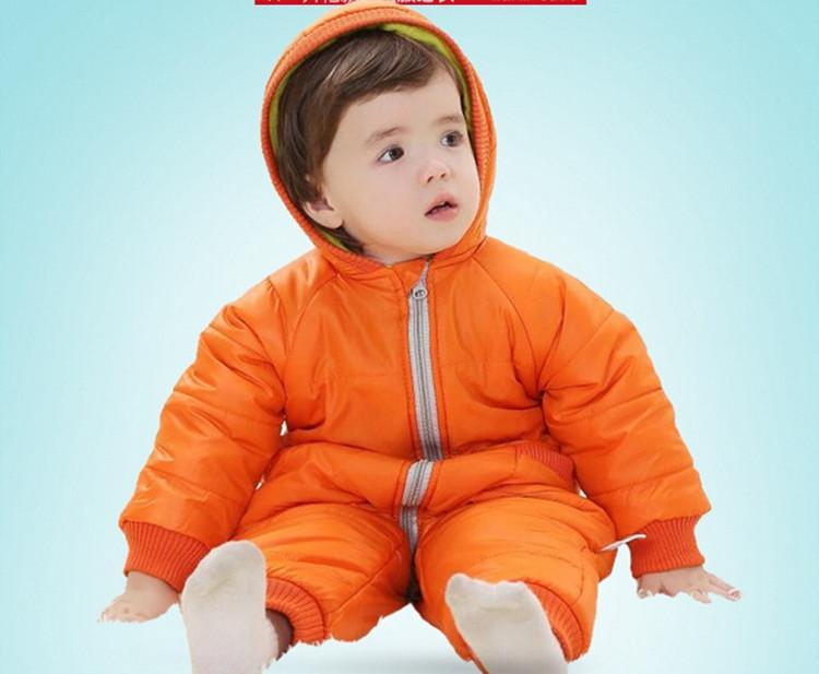 9-24Months Baby Winter Clothes Girl Boy Romper Warm Russian Baby Winter Jumpsuit Skiing Outerwear Clothing Colorful Snowsuit (13)