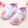 2017 Summer Soft Sole Baby First Walkers Girls Baby Summer Shoes Indoors Flowers PU Infant Shoes