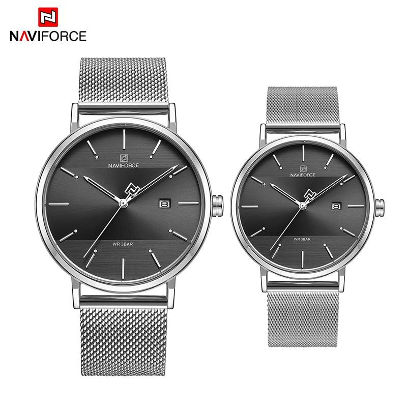 NAVIFORCE Couple Watches Fashion Lover Casul Sport Watch 2019 Luxury Top Brand Bracelet Wrist Watches For Men Women Girls Gifts