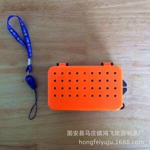 Image 5 - 多機能 2 コンパートメントボックス 10*6*3.2 センチメートルプラスチックミミズワームベイトルアーフライ鯉釣具ボックスアクセサリー