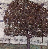 Handmade Oil Painting Reproduction Apple Tree II By Gustav Klimt
