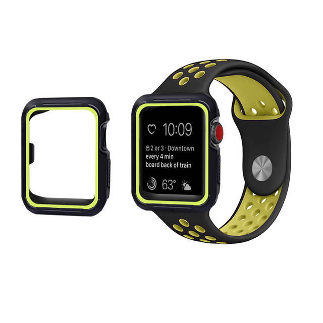 US $4.84 26% OFF|Sport strap+case for apple watch band Nike 38/42 mm  bracelet silicone watchband+Protective Case for iwatch 3/2/1 wrist belt-in  ...