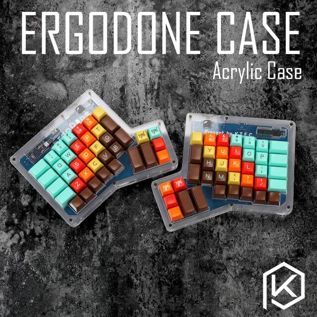 Layered Acryl Fall für ergodone benutzerdefinierte tastatur ergo fall Ergonomische Tastatur Kit acryl platte für ergo ergodone