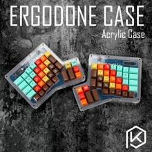 الطبقات الاكريليك حالة ل ergodone المفاتيح المخصصة إرجو حالة مريح لوحة المفاتيح عدة طبق إكريليك ل إرجو ergodone