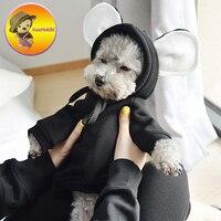 Nieuwkomers S-XL winter Puppy Hond Kleding Vestidos Huisdieren honden Mouse kostuum pet kat jassen Jumpsuit huisdier truien hond kleding