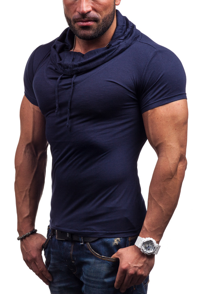 2016 mens breathable solid polo sport men\'s clothing fitness short Sleeve polo shirts casual undershirt 5