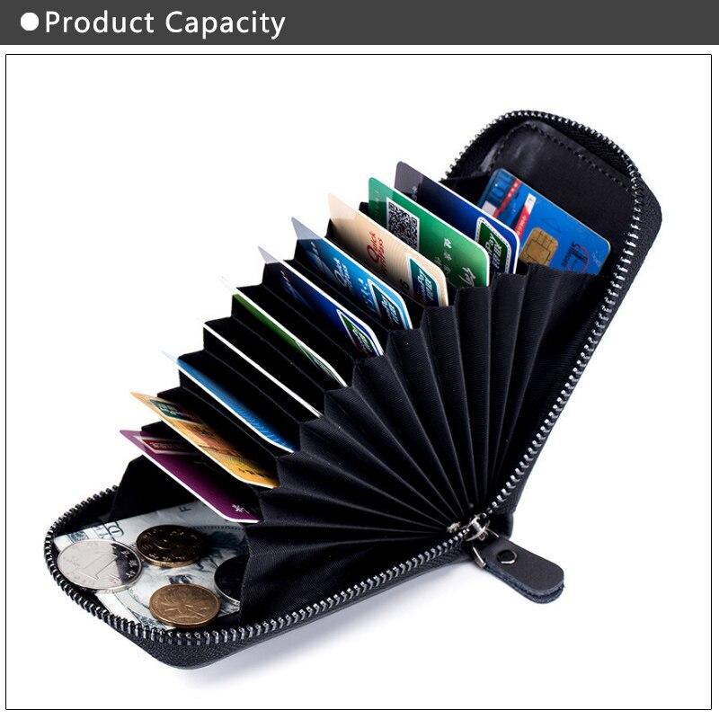 Genuine Leather Anti RFID Card Holder Wallet Female Credit CardHolder Coin Purse Women Pillow Organizer Case