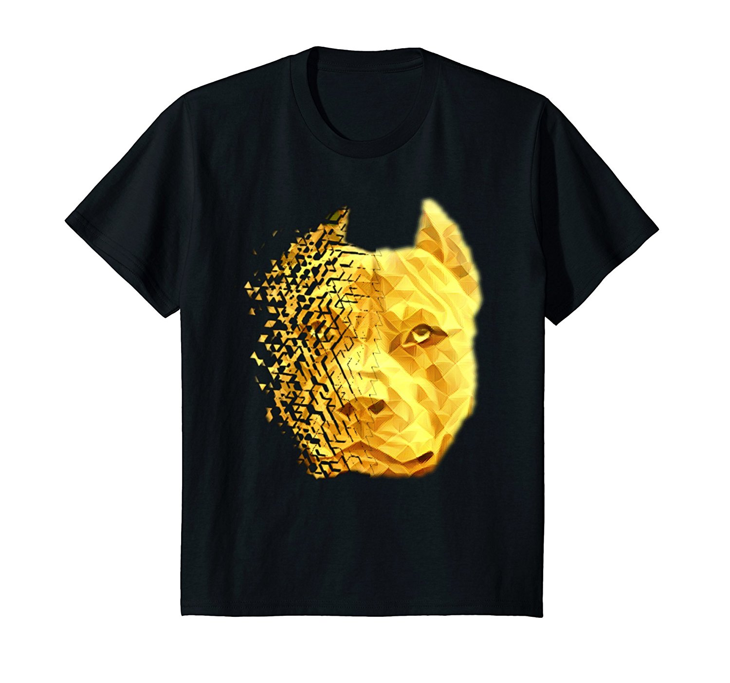 2019 Hot sale Fashion 100% cotton <font><b>Pit</b></font> <font><b>Bull</b></font> Shattered Gold Designer T-<font><b>Shirt</b></font> Tee <font><b>shirt</b></font> image