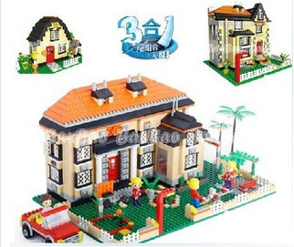 BB Model Compatible with Lego BB8369 1100Pcs City House Models Building Kits Blocks Toys Hobby Hobbies For Boys Girls