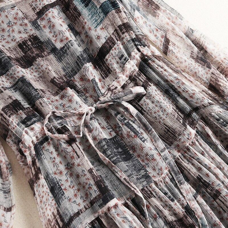 Géométrique Pour Chic Prairies Soie Robes De Concepteur Supérieure Qualité Shuchan Manches 2019 En Trois Femmes Multi 10292 Robe Des Trimestre pCIdwqd