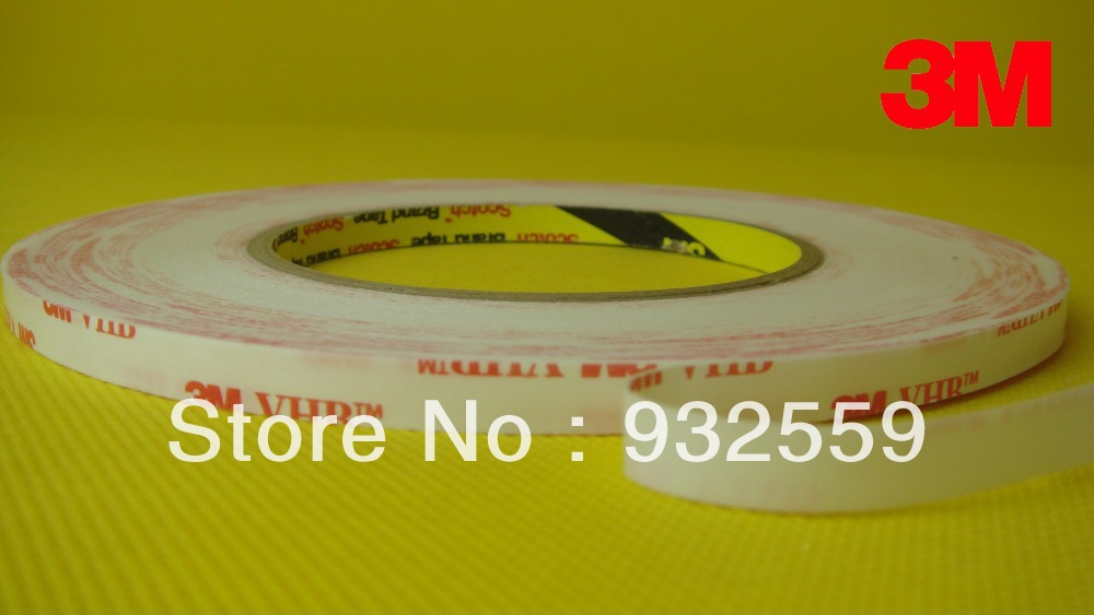 ФОТО 20mmX33M  thin 3M VHB tape 4914 for LCD/Display and Bezel bonding,0.25mm thick, Free shipping