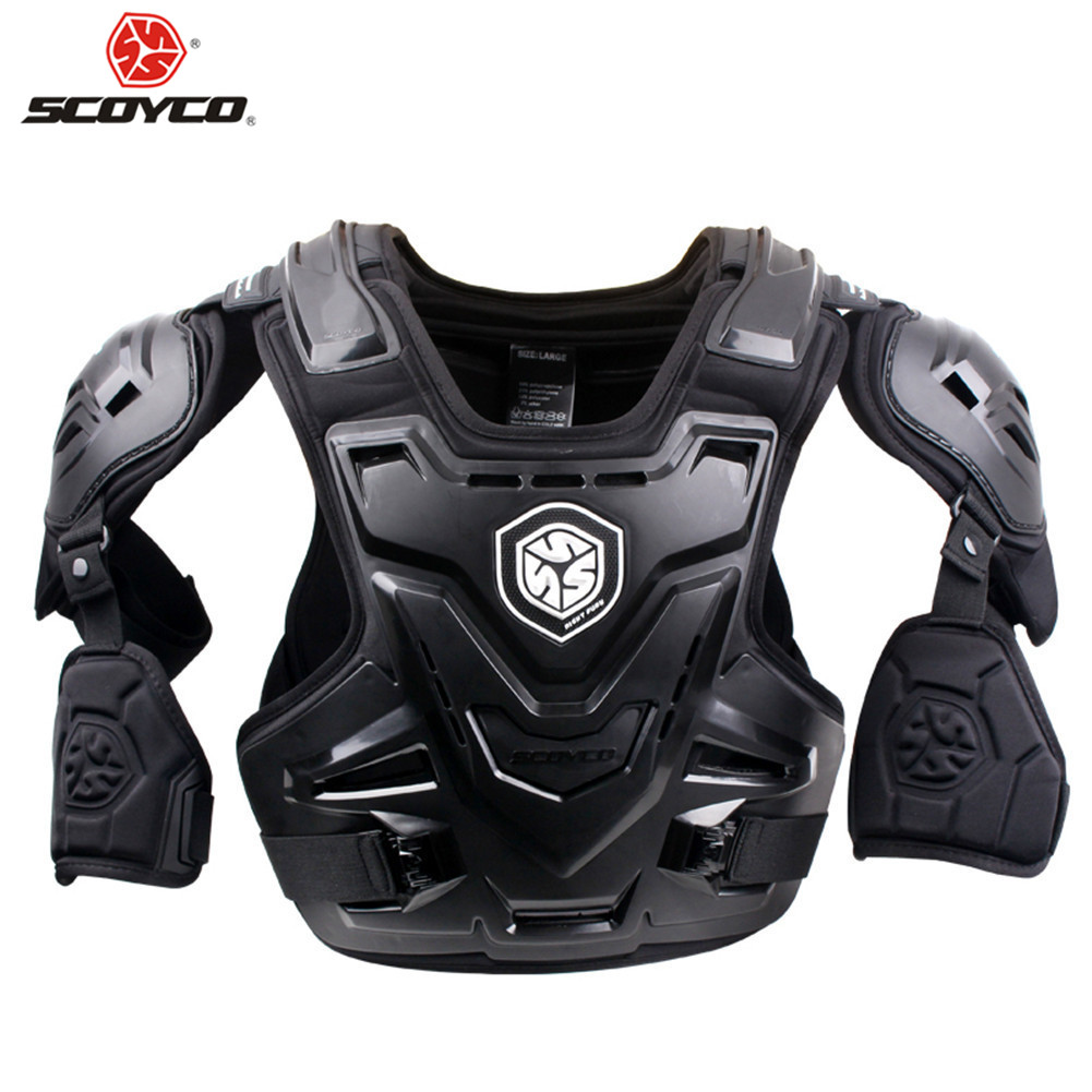 SCOYCO Moto Motocross Chest Back Protector Armour Racing Vest Protection De Corps Garde MX Armure ATV Gardes Course CE Approuvé