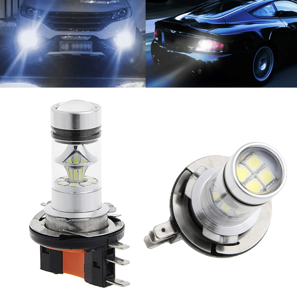 Car-Styling 1Pc H15 100W 2323 SMD LED Car Fog Light Driving  Bulb Brake Stop Lamp Headlight Fog Lamps