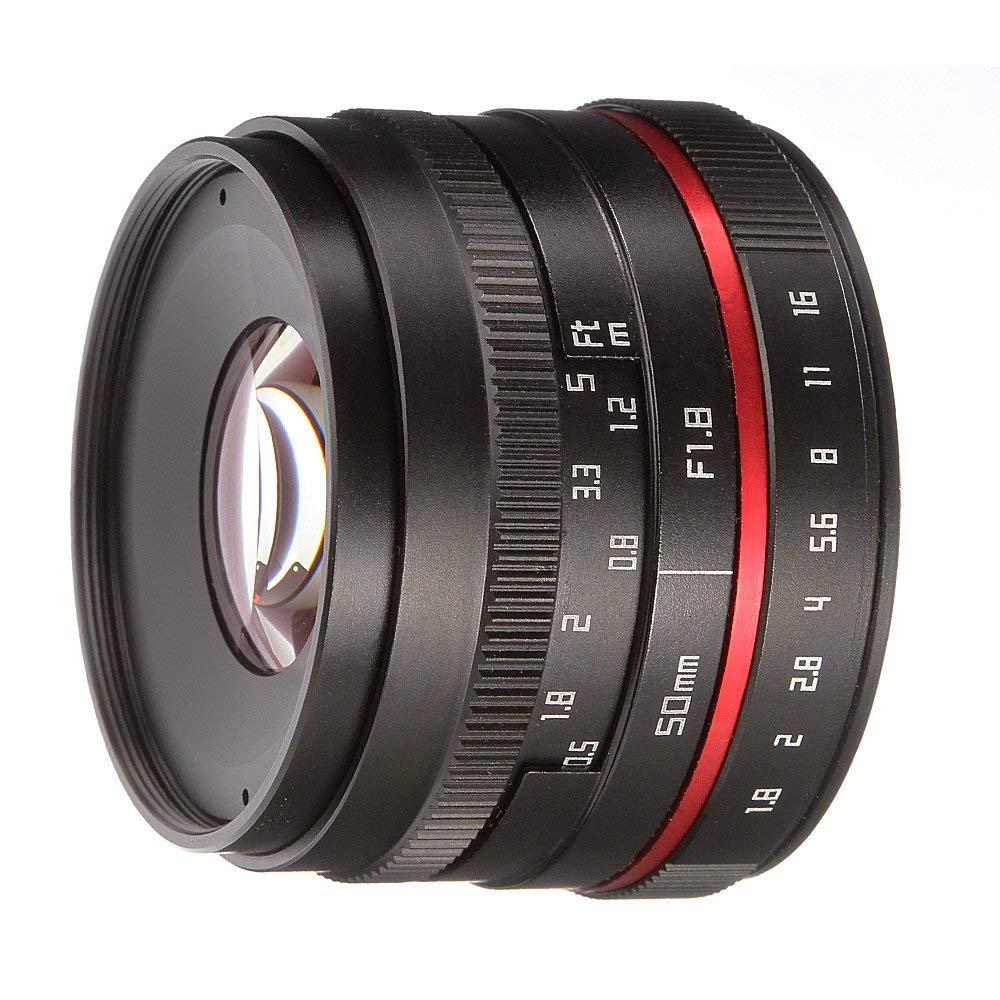 FOTGA 50mm F 1 8 Manual Focus MF Prime Lens for Panasonic Olympus Micro 4 3