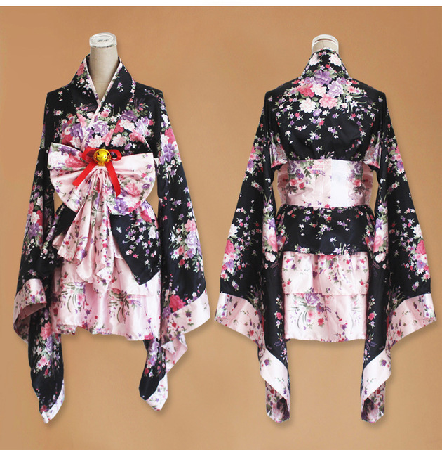 court anime cosplay japonais kimono lolita costume rouge. Black Bedroom Furniture Sets. Home Design Ideas