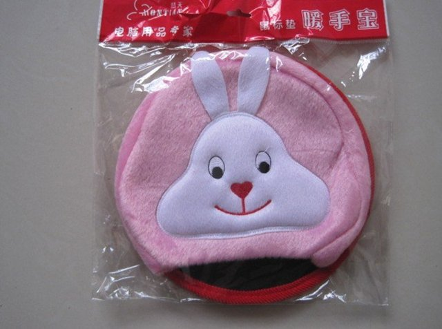 best gift-USB heater-freight discount- fashion style-USB heating gloves -pink long ear rabbit