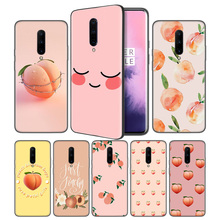 Peach Soft Black Silicone Case Cover for OnePlus 6 6T 7 Pro 5G Ultra-thin TPU Phone Back Protective
