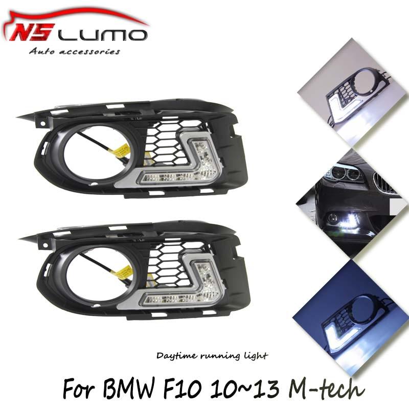 2шт/много 12ВТ 12В на C рзэ светодиодные фары дневного света для БМВ Ф10 М-техник 100% Водонепроницаемый дневного света СИД DRL вождение автомобиля Лампа