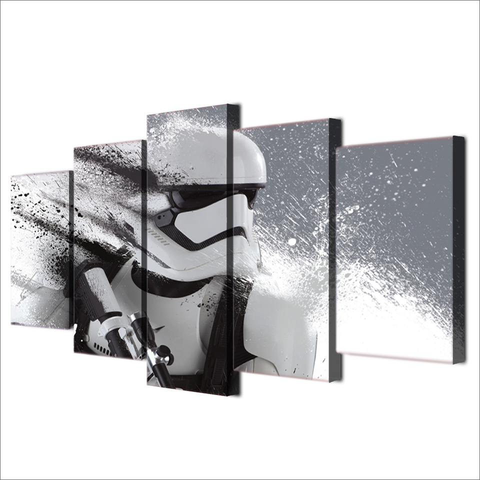 HD 5 piece canvas art printed trooper Painting livingroom wall art canvas poster picture Free shipping/ff-017