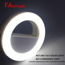 FANGTUOSI Selfie Ring Light Portable Flash Led Camera Phone Photography Enhancing Photography USB Charge Ring Light for iPhone