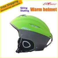 Kış AIDY-205 PC + EPS Kayak Kask Yarım-kaplı Pateni/Kaykay/Snowboard Kask Sıcak Satış Ücretsiz Boyutu (58-61 cm Ayarlanabilir)