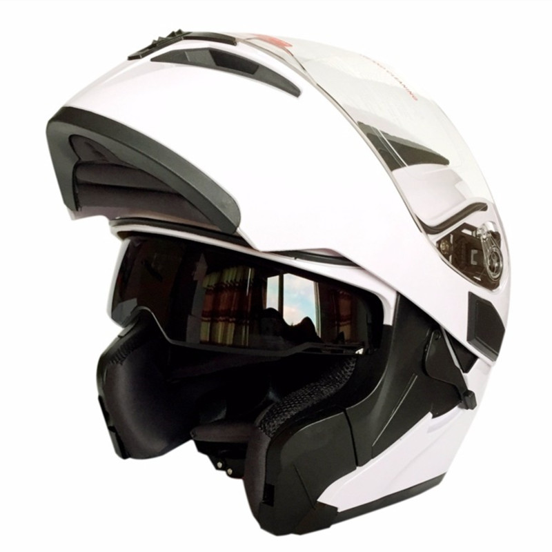 ФОТО (1pc&4colors) Newest Flip-Up Modular Helmet Double Lens Motorcycle Full Face Helmets Casco Capacetes Brand Cyclegear 902