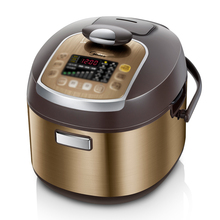 Multicooker Midea yellow electric pressure cooker with 24 hours preset 3.8mm aluminum with non-stick inner pot precision cooker