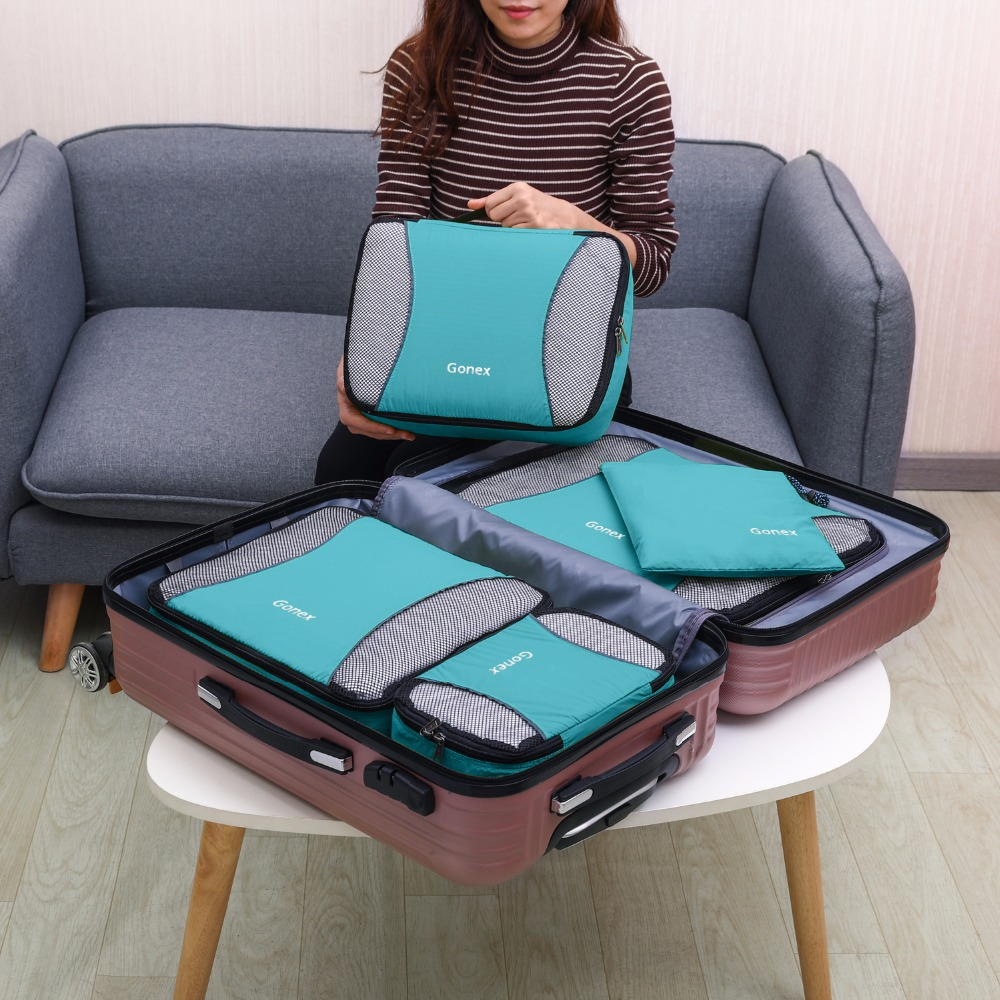 HTB1s94Qa3FY.1VjSZFqq6ydbXXat Travel Packing Cubes set (Gonex)