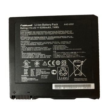 Battery Pack For Laptop | 14.4V 5200mAh /74Wh A42-G55 New Original Laptop Battery Pack For ASUS G55 G55V G55VM G55VW