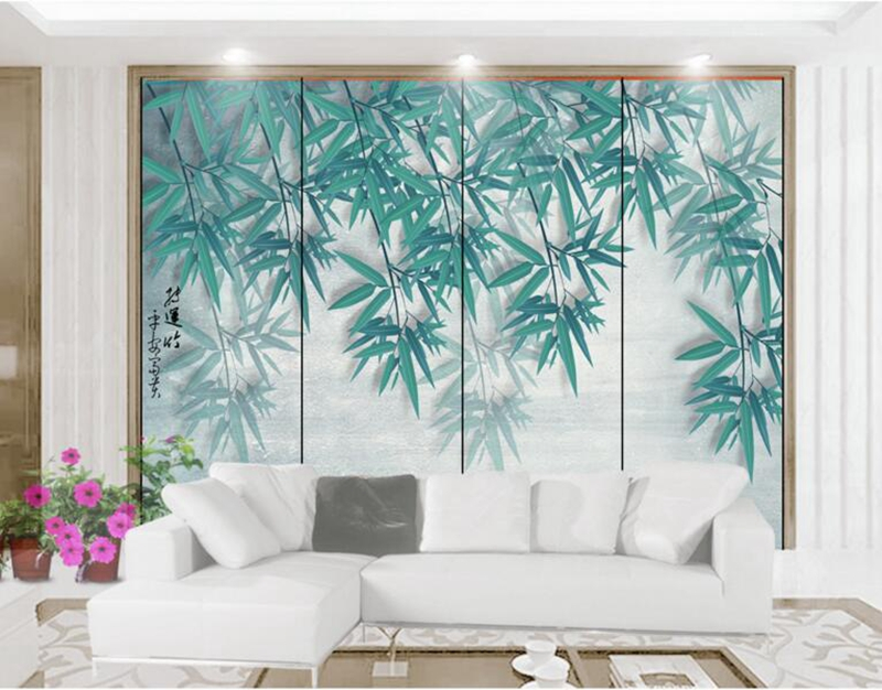 Desktop Wallpaper Hd Photo Wallpaper for Home Nostalgic Vintage Small Fresh Handpainted Bamboo Sitting Room Decor Ideas Room