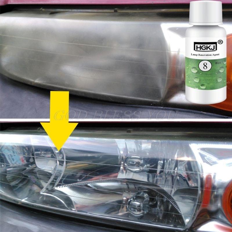 Hot New 1 Pc 20ml/ 50ml Car Styling HGKJ-8 Car Lens Restoration Headlight Brightening Headlight Repair Washing Accessories