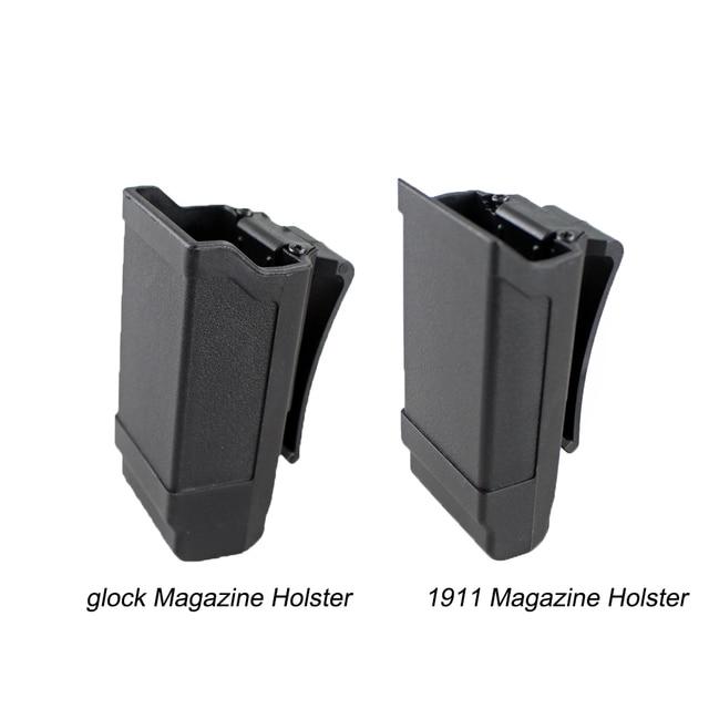 CQC Стек журнал кобура тактический Чехол для кружек для Glock 9 мм Калибр или 1911 Калибр