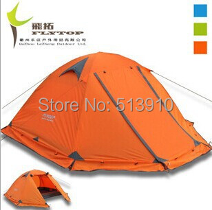 Good quality Flytop double layer 2 person 4 season aluminum rod outdoor camping tent Topwind 2 PLUS with snow skirt 3colors waterproof tourist tents 2 person outdoor camping equipment double layer dome aluminum pole camping tent with snow skirt