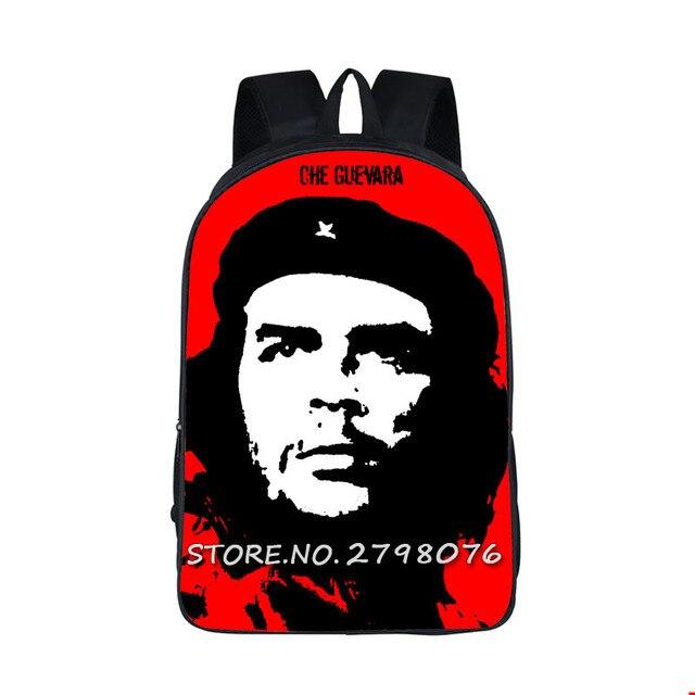 650621b614383 تشي غيفارا حقيبة المدرسية حقيبة مدرسية ارنستو تشي غيفارا bagpack الأسود  الرجال بطل الطباعة الأطفال