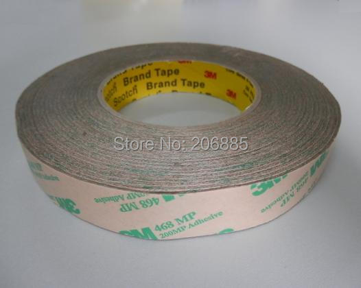 100 Original 3M 468MP High tempreture double sided sticker clear color two sided tape 468MP18mm 55m