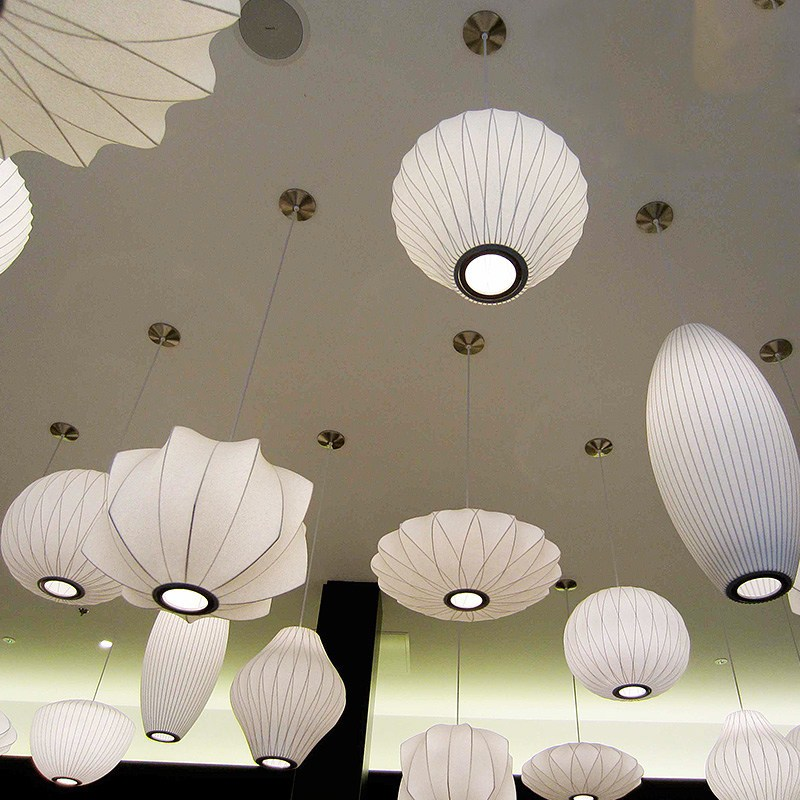 Коммерческое освещение в японском стиле шелковый абажур подвесной свет подвеска стиль лофт лампы для гостиной/спальня/отель 100 240 В