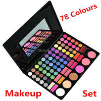 The Newest Professional Makeup Set 78 Full Color Eyeshadow Lip Gloss Blusher Palette Kit Set Eye